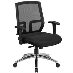 Flash Furniture Mesh Mid-Back Office Chair in Black A337A01