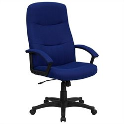 High Back Swivel Office Chair in Navy Blue