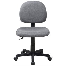Armless Ergonomic Task Office Chair in Gray