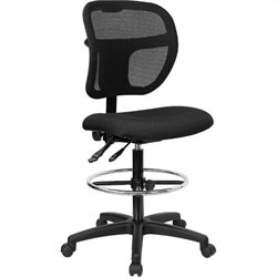 Mid-Back Mesh Drafting Chair in Black