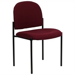 Stacking Side Stacking Chair in Black and Burgundy