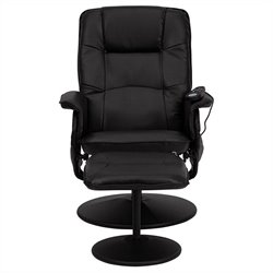 Massaging Recliner and Ottoman in Black