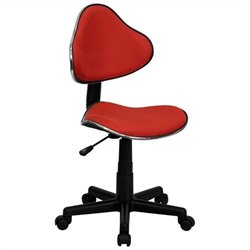 Modern Ergonomic Task Office Chair in Red