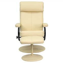 Recliner and Ottoman in Cream