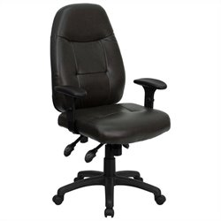 High Back Executive Office Chair in Espresso Brown