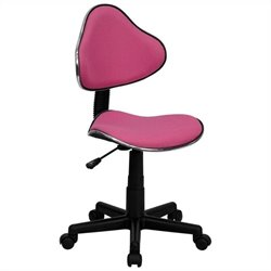 Modern Ergonomic Task Office Chair in Pink