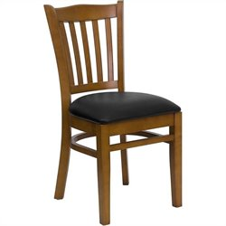 Dining Chair in Cherry with Black Seat