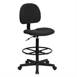 Patterned Ergonomic Drafting Chair in Black