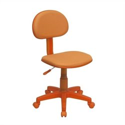Fabric Task Drafting Office Chair in Orange