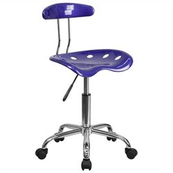 Office Chair in Deep Blue and Chrome