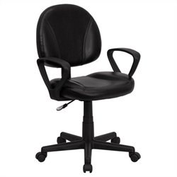 Ergonomic Task Office Chair in Black with Arms
