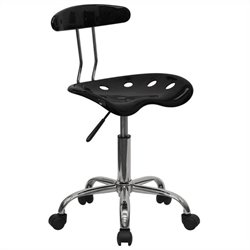 Computer Task Office Chair in Black and Chrome
