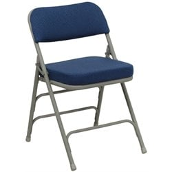 Metal Folding Chair in Navy