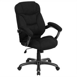 High Back Upholstered Office Chair in Black