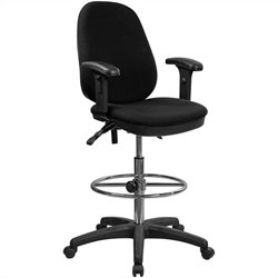 Ergonomic Drafting Chair with Adjustable Foot Ring
