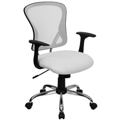 Mid Back Mesh Office Chair in White