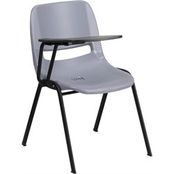 Ergonomic Shell Guest Chair in Gray
