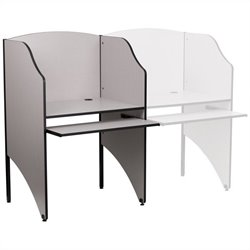 Starter Study Carrel in Nebula Grey