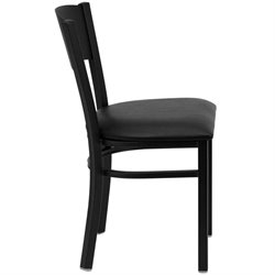 Circle Back Metal Dining Chair in Black