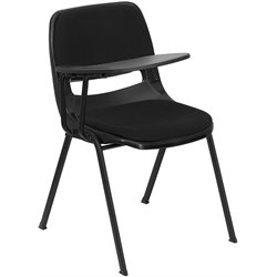 Padded Ergonomic Shell Chair in Black