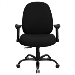 Flash Furniture Hercules Black Fabric Office Chair with Arms