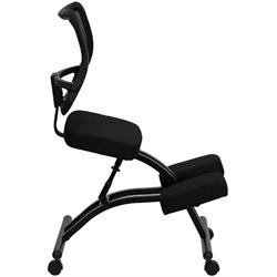Mobile Ergonomic Kneeling Office Chair in Black