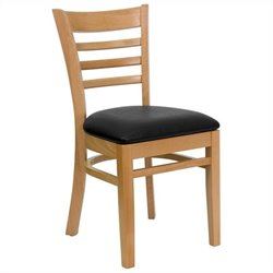 Upholstered Dining Chair in Natural and Black