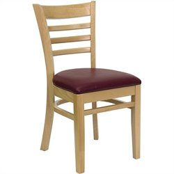 Dining Chair with Burgundy Seat