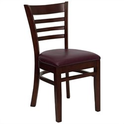 Ladder Back en Dining Chair in Mahogany