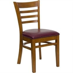 Dining Chair in Cherry and Burgundy