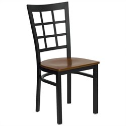 Black Window Back Dining Chair in Cherry