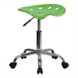 Chrome Stool in Lime