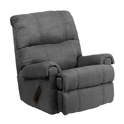 Flatsuede Microfiber Rocker Recliner in Graphite