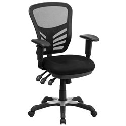 Mid-Back Mesh Office Chair in Black