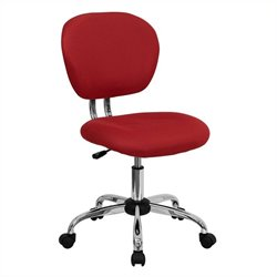 Mid-Back Mesh Task Office Chair in Red