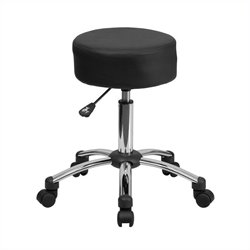 Medical Ergonomic Stool Black and Chrome
