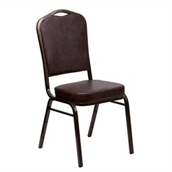 Flash Furniture Hercules Banquet Stacking Chair in Brown