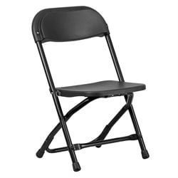 Kids Plastic Folding Chair in Black