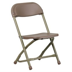 Kids Plastic Folding Chair in Brown
