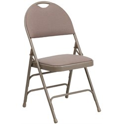 Flash Furniture Hercules Metal Folding Chair in Beige