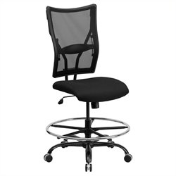 Flash Furniture Hercules Mesh Drafting Chair in Black