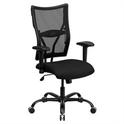 Flash Furniture Hercules Mesh Office Chair with Arms in Black
