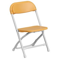 Kids Plastic Folding Chair in Yellow
