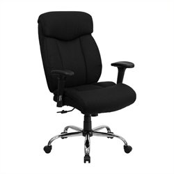 Flash Furniture Hercules Fabric Office Chair with Arms in Black