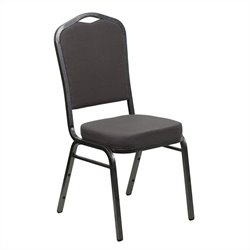 Flash Furniture Hercules Banquet Stacking Chair in Gray