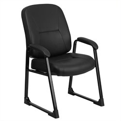 Flash Furniture Hercules Leather Executive Side Office Chair in Black