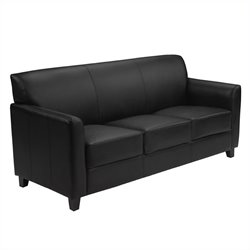 Flash Furniture Hercules Diplomat Leather Sofa in Black