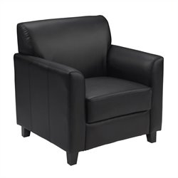 Diplomat Leather Chair in Black
