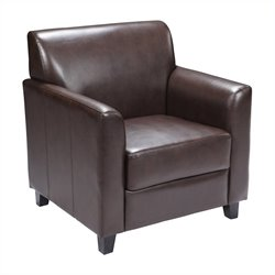 Diplomat Leather Chair in Brown