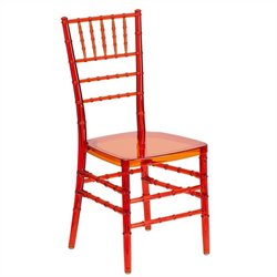 Stacking Dining Chair in Crystal Crimson